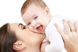 Women's Health, Fertility support and Menopause. smiling baby